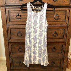 Blue and white boutique dress